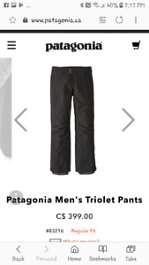 Patagonia men's  Triolet pants (new without tags).