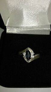 Marquise Blue Sapphire Ring
