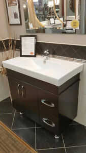 "36"" Vanity c/w rectangular top $ 549.00"