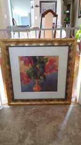 Flower Pic with Decorative Gold Frame Stratford Kitchener Area image 2