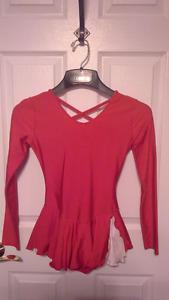 Red figure skating dress