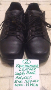 SIDEWINDER Leather Casual/ Oxford Safety Shoes. Men. Size: