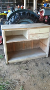 wooden cabinet and other tiems