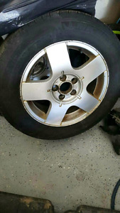 195-65-15 Michelins on 5x100 Aloys from VW Jetta with 85% tread