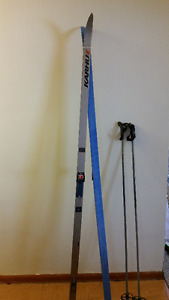 X Country Waxless Skiis and Poles