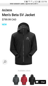ARCTERYX - BETA SV JACKET  NEW