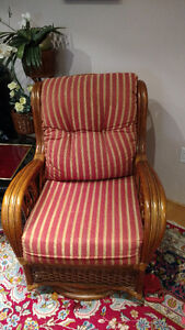 brand new rattan rocking chair cushions only $ 250