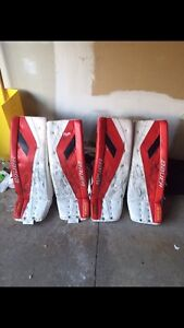 Goalie Pads Blockers and Gloves