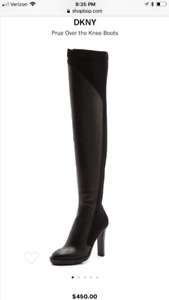 New with a box: DKNY over the knee boots