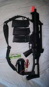 JG G608 G36C AEG(9.6V and Valken smart charger included)