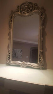 BRAND NEW VICTORIAN REAL WOOD GILT SLIVER MIRROR