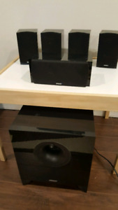 Yamaha Reciever with Energy Speakers and Sub Woofer