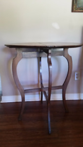 Antique tables, antique humidor, plant stand, lamp, water featur