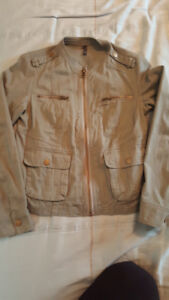 Ladies green army type coat small