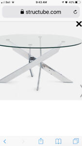 Brand new glass table and 4 chairs for sale!