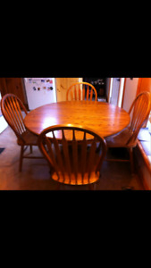 Oak kitchen dining set