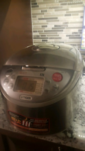 Tiger induction heating 10 cup rice cooker 5 layers with warmer