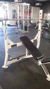 Hammer Strength Flat, Incline, Decline Olympic benches Kitchener / Waterloo Kitchener Area image 7