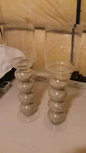 Set of 2 Candle Holders  MUST GO ASAP!