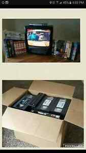 Tv Vhs and vhs tapes