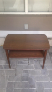 Brown Wooden Two Shelf Table