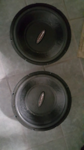 Pair of 15 inch soundstream rubicon subs