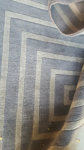 Brown and cream rug