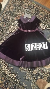 Purple Dress Size 2T very nice and very good condition $5