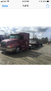 2001 volwo truck & 2000 super b loadking trailor
