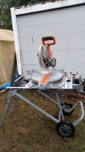 """Ridgid 12"""" Dual Bevel Sliding Mitre Saw with stand"""