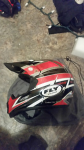"""FLY Helmets - """"List"""" Carbon Kevlar lite - MX/ dirtbike Helmet"""