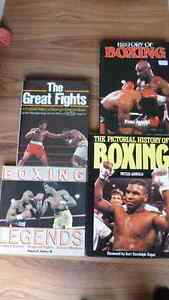 Set of 4 large hardback Boxing Legends Greatest Fights Books