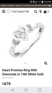 Michael hill engagement ring. Size 8