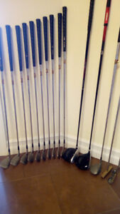 Top Flite Tour Irons and 5 wood plus 2 drivers and 2 putters.