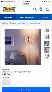 BRAND NEW Ikea copper and white Overud light Cambridge Kitchener Area image 4