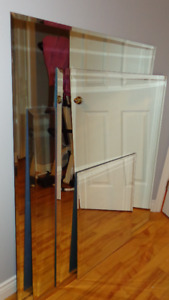 Beveled mirrors various sizes