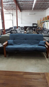 """Comfortable futon with 8"""" pocket coil mattress - Delivery Availa"""