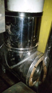 """8"""" insulated chimney pipe for wood stove"""