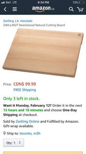JA Henckle Zwilling Natural Cutting Board