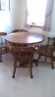 Kitchen table set, dresser with mirror, wall mirror,entertain un