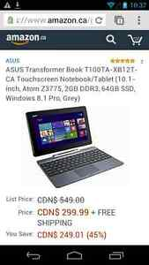 Trade Asus Transfomer Tablet for Android Phone