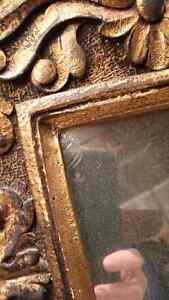 Vintage  Antique Bronze gold mirror Cambridge Kitchener Area image 2