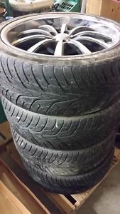"Lexani 22"" rims with Hankook Ventus ST tires"