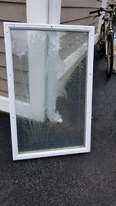 Frosted glass door insert