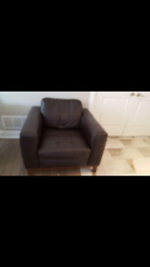 Brown Nutuzzi leather chair