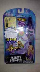Hannah Montana activity pen & pad set (new)
