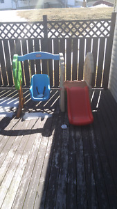 Little tykes swing and slide (sold ppu)