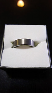 Wedding Band Ring - Size 7 - Brushed Tungsten Carbide - NEW Neve