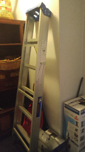 6' LADDER MOVED ALMOST NEW NO LONGER NEED IT