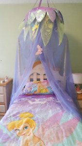 Tinkerbell or Princess Bedding Set - Canopy, pillows, sheets